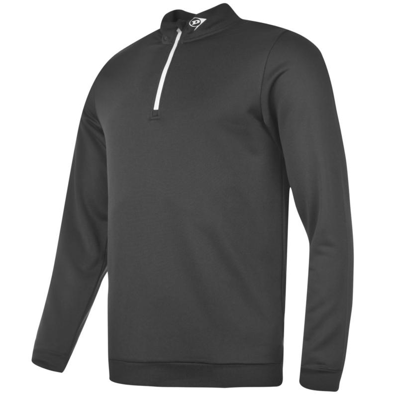 Dunlop Quarter Zip Pullover Mens Black