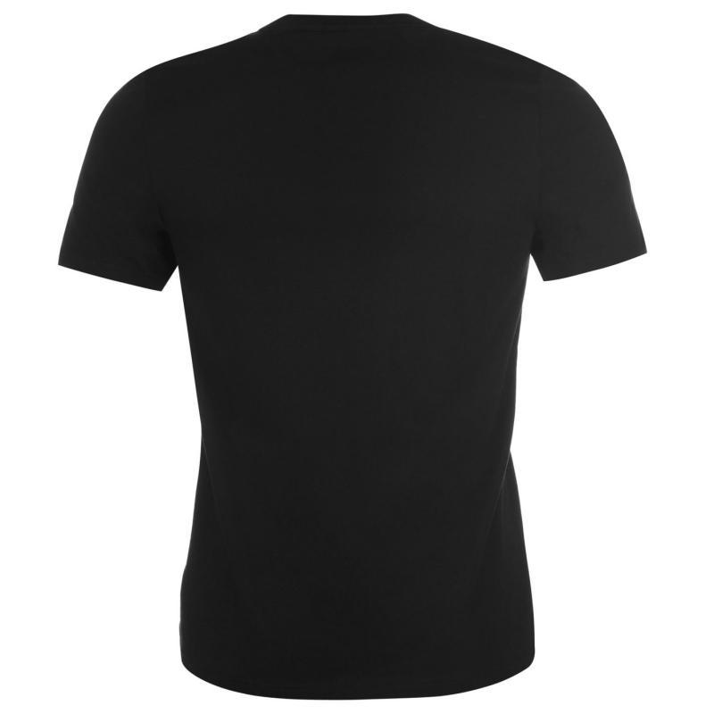 Tričko Everlast Logo T Shirt Mens Black Sheild