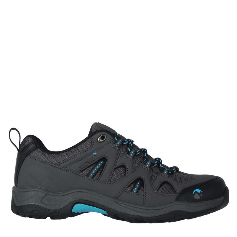 Gelert Ottawa Low Junior Walking Shoes Charcoal/Blue