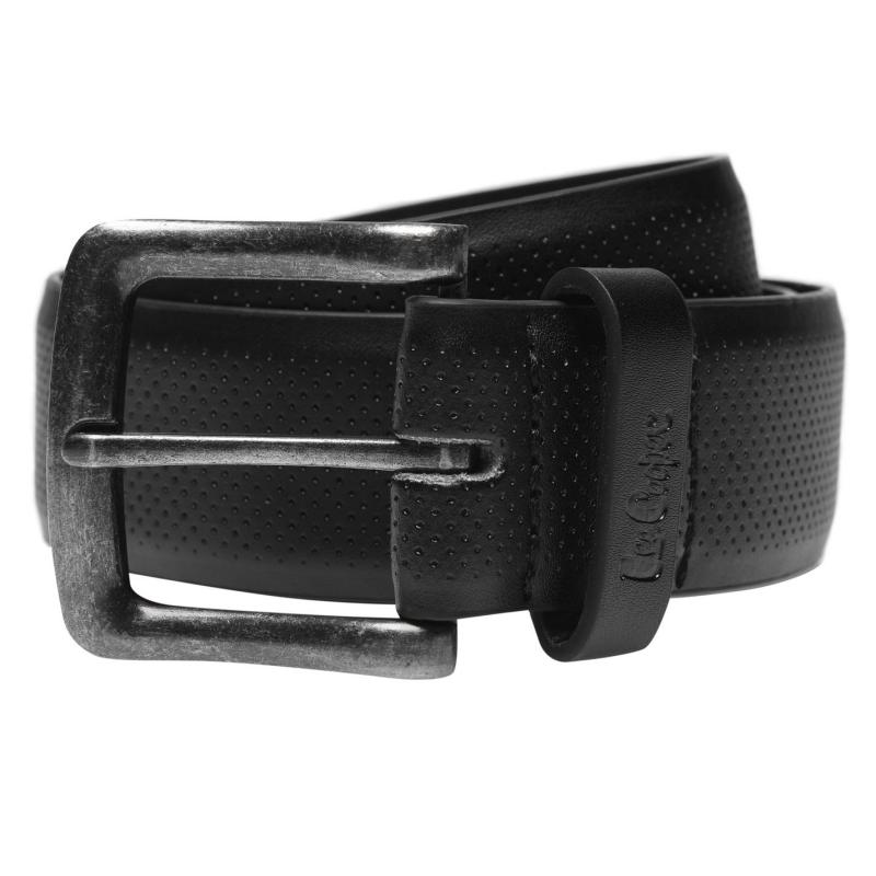 Lee Cooper Pattern Belt Mens Black