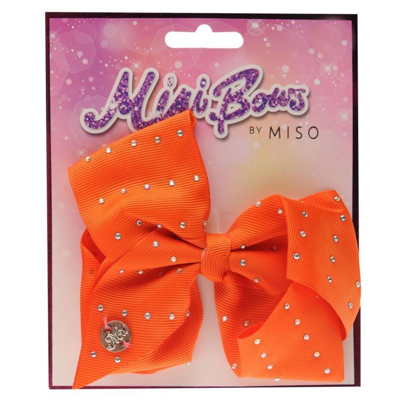 Miso MiMi Bow Junior Girls Orange Diamante
