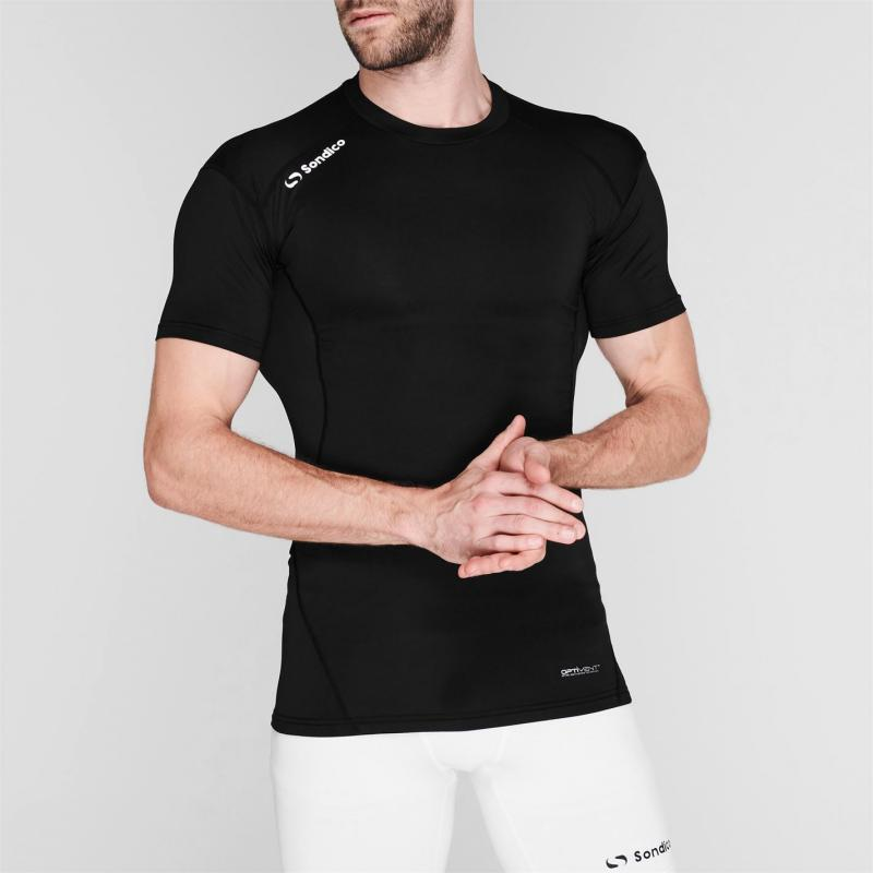 Sondico Core Base Short Sleeves Mens Black