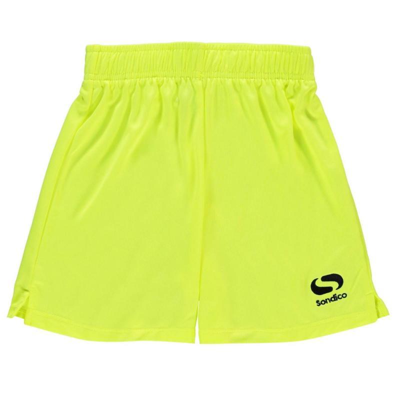 Kraťasy Sondico Grass Roots Football Shorts Junior Fluo Yellow