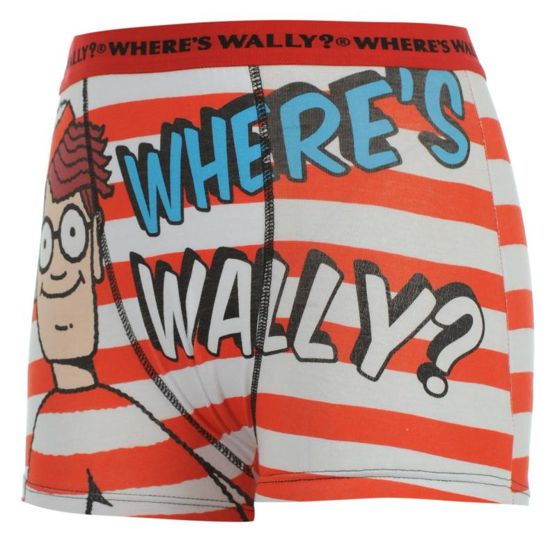 Spodní prádlo Character Wally Single Boxer Kids Red