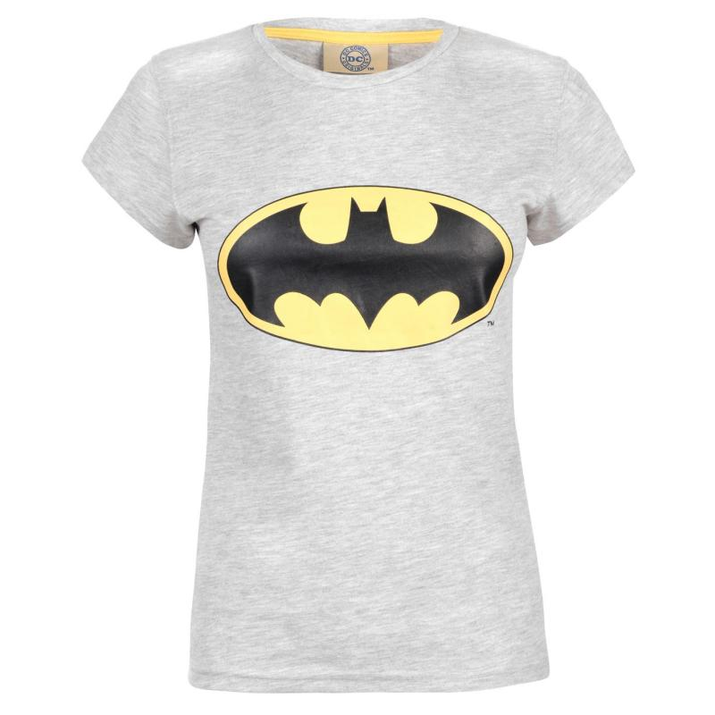 DC Comics Batman T Shirt Ladies Grey Batman