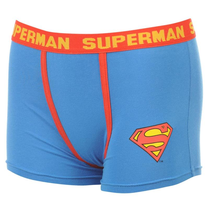 Spodní prádlo DC Comics Superman Single Boxer Shorts Infants Blue
