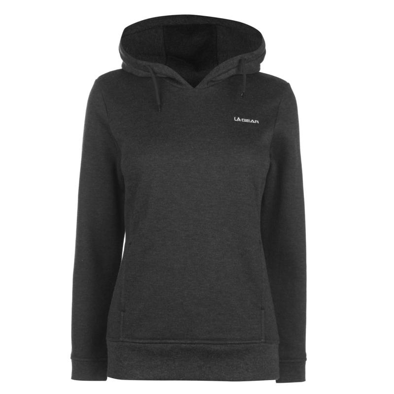 Mikina LA Gear Over the Head Hoodie Ladies Charcoal Marl