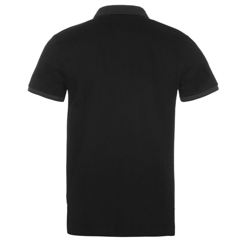 Lambretta Placket Polo Shirt Mens Black