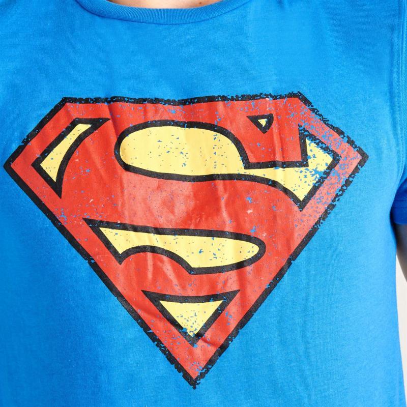 Tričko DC Comics Superman T Shirt Mens Superman Blue