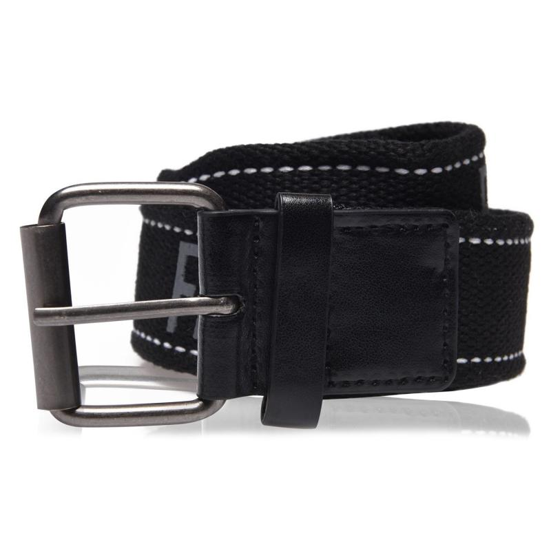 Fabric Texted Belt Black