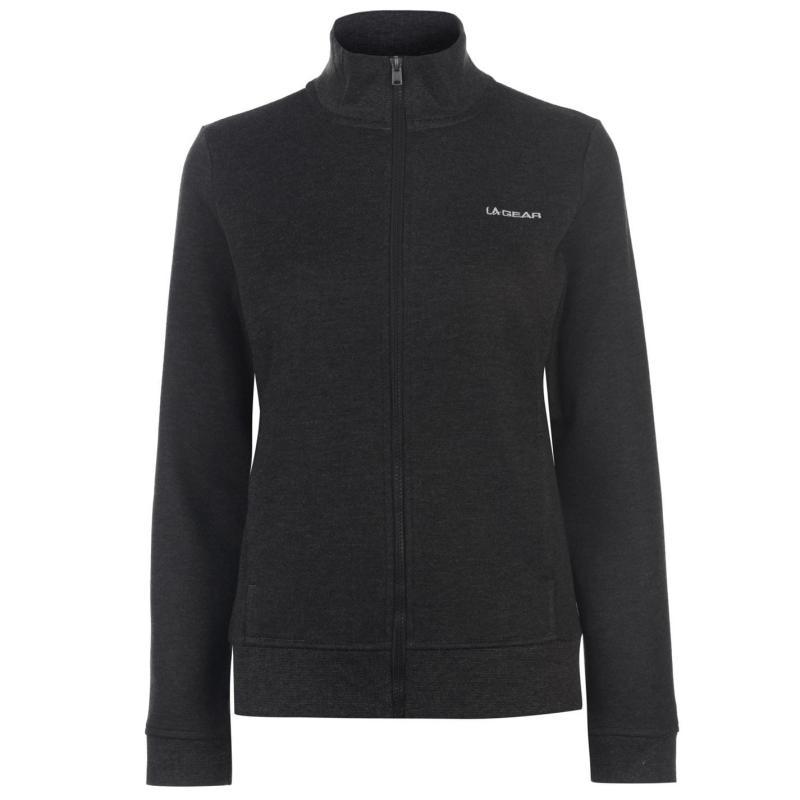 Mikina LA Gear Full Zip Fleece Ladies Charcoal Marl