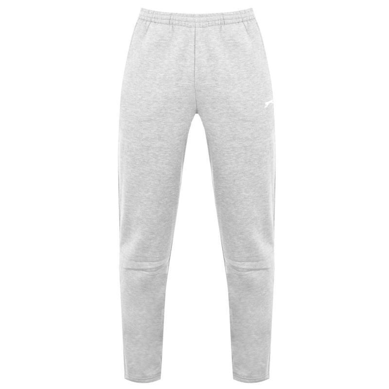 Tepláky Slazenger Open Hem Fleece Pants Mens Grey Marl