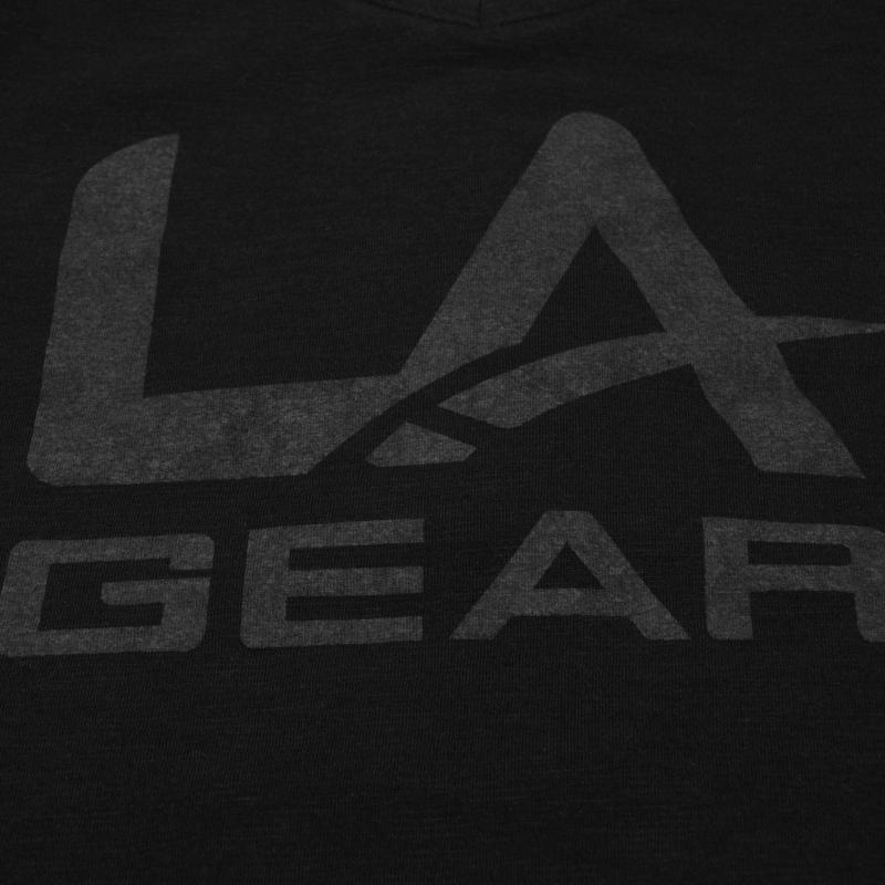 LA Gear V Neck T Shirt Ladies Crimson