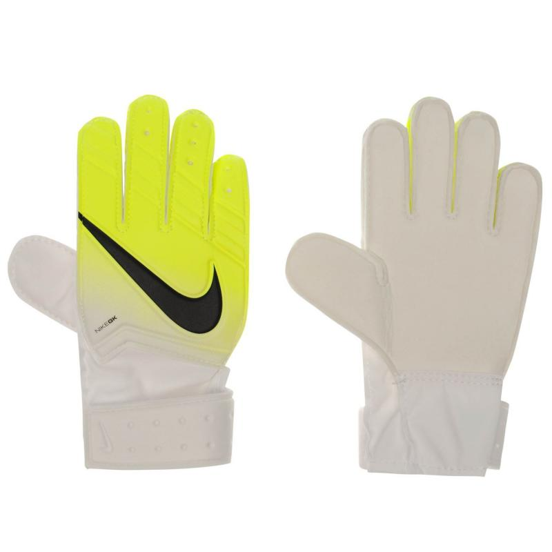 Nike Goalkeeper Match Gloves Junior White/Volt/Blk