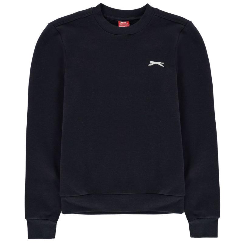 Mikina Slazenger Fleece Crew Sweater Junior Boys Navy