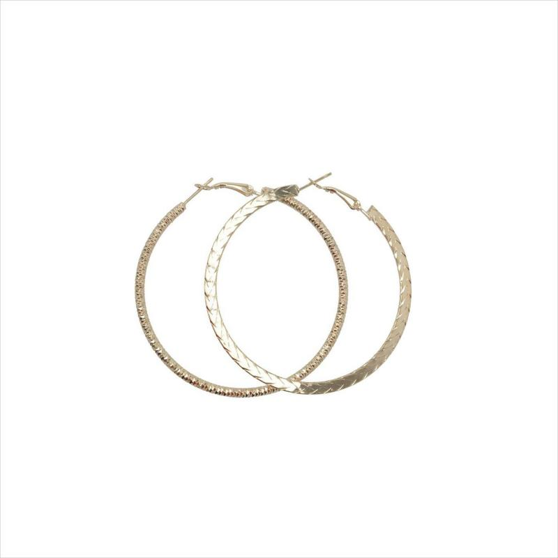 Miso Earrings Ladies Gold Hoop x2