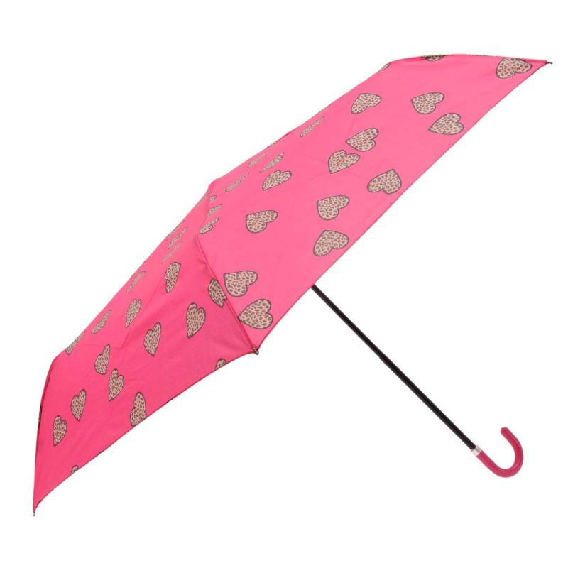 Susino Leopard Heart Umbrella Pink