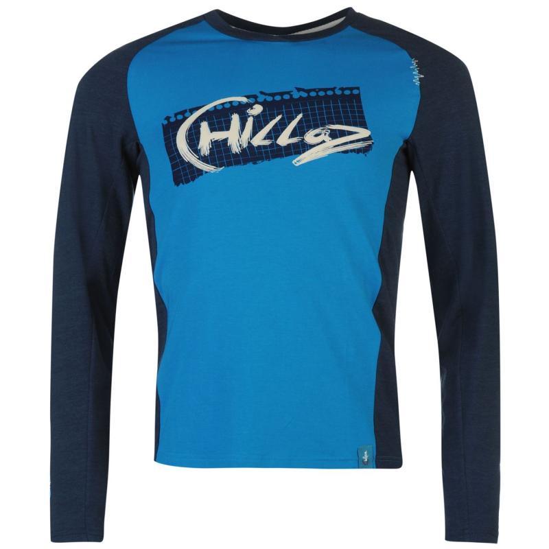 Chillaz Long Sleeve Krabi T Shirt Mens Blue