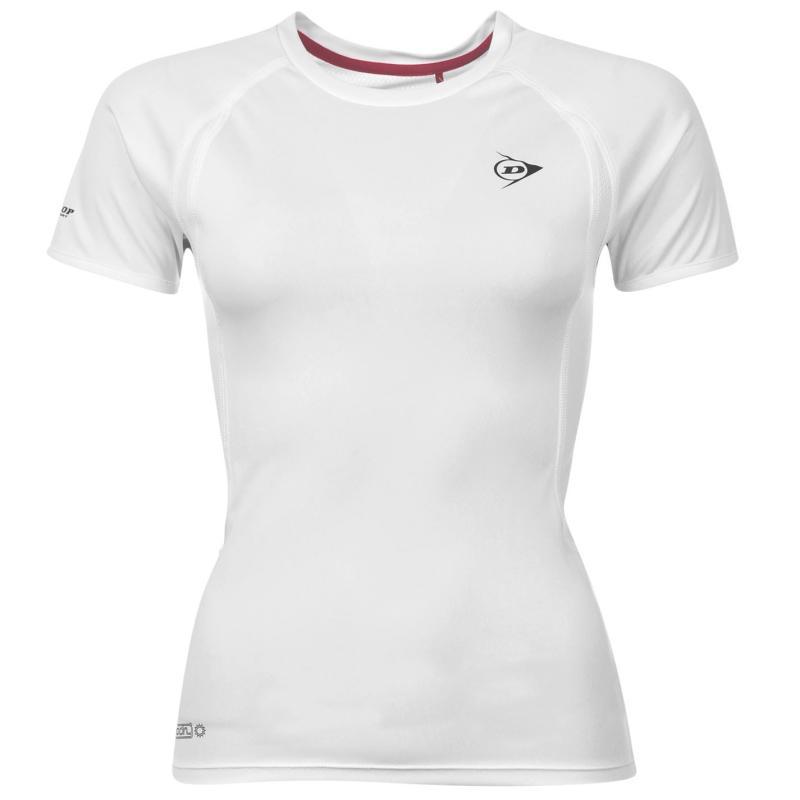 Dunlop Performance T Shirt Ladies White