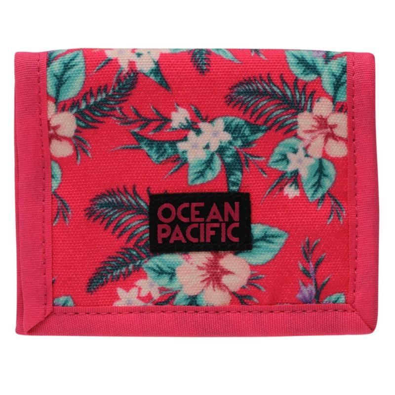 Ocean Pacific Ripstop Ladies Wallet Pink Tropical