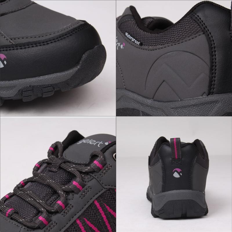 Gelert Horizon Low Ladies Waterproof Walking Shoes Charcoal