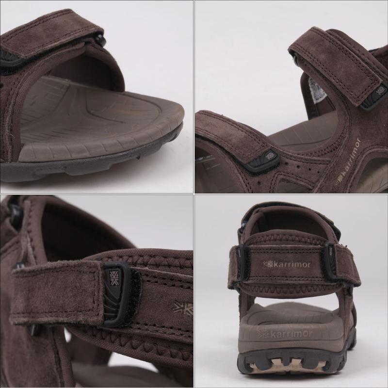Karrimor Antibes Leather Mens Walking Sandals Brown