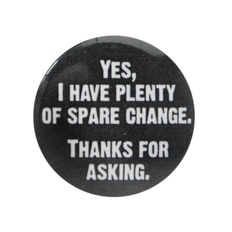 Character Button Badge Spare Change