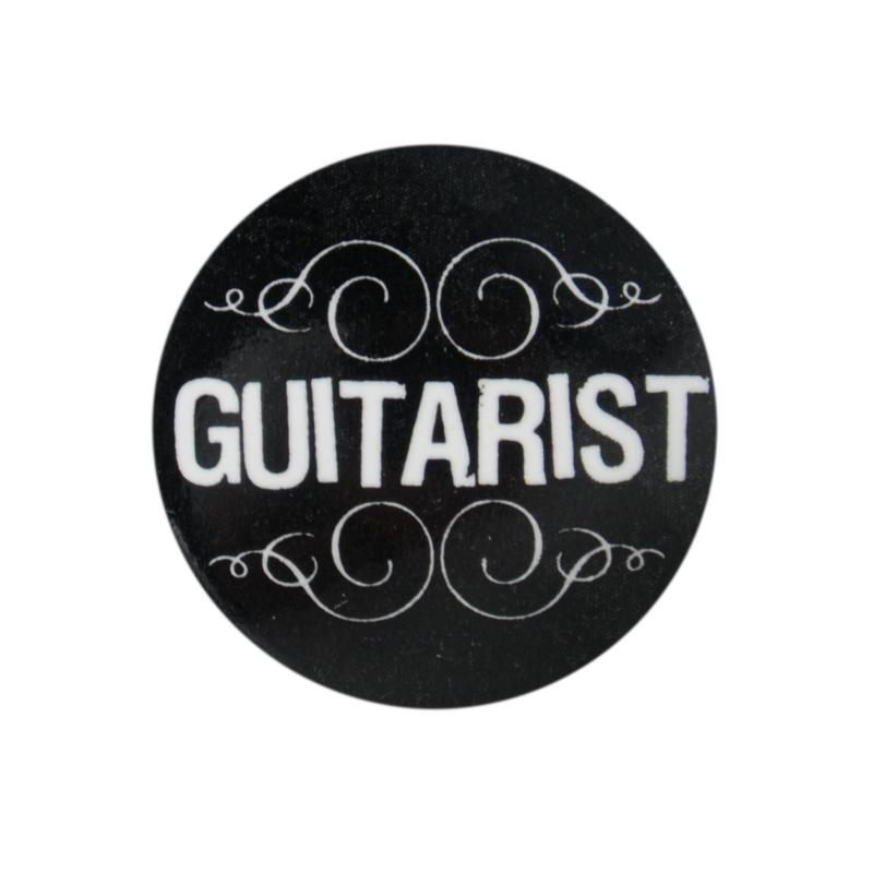 Character Button Badge Guitarist