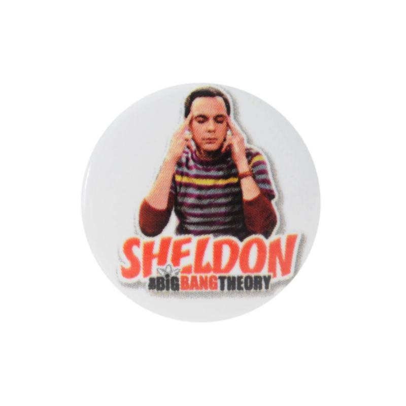 Character Button Badge Sheldon