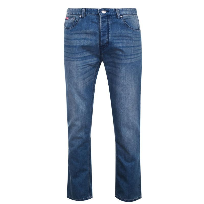Lee Cooper Regular Jeans Mens Mid Wash