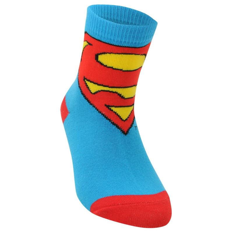 Ponožky DC Comics Superman 3 Pack Crew Socks Childs Multi