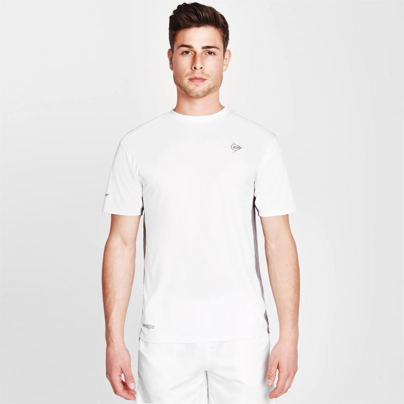 Tričko Dunlop Performance T Shirt Mens White