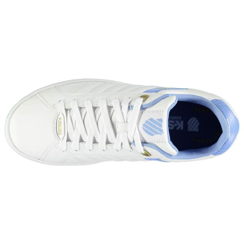K Swiss Lundahl WT Ladies Trainers White/Blue