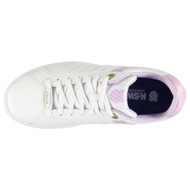K Swiss Lundahl WT Ladies Trainers White/Orchid