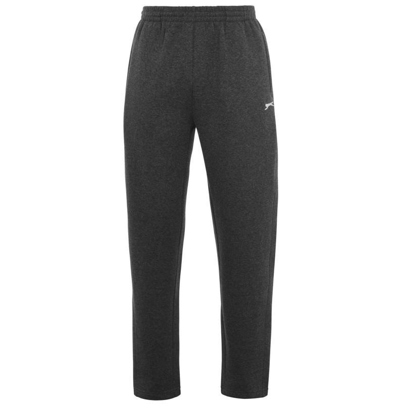 Tepláky Slazenger Open Hem Fleece Pants Mens Charcoal Marl