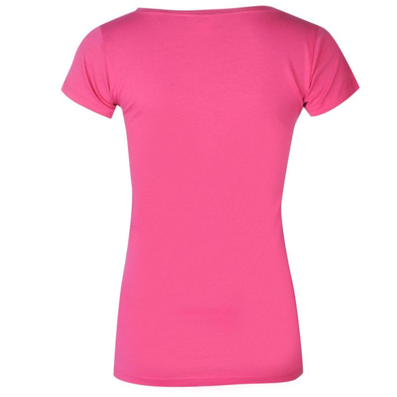 Roxy Lazy Day T Shirt Ladies Pink Berry
