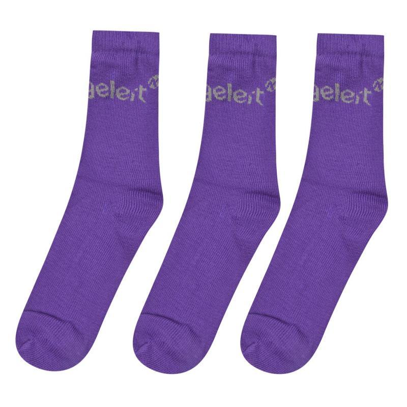 Gelert 3 Pack Thermal Socks Mens Purple