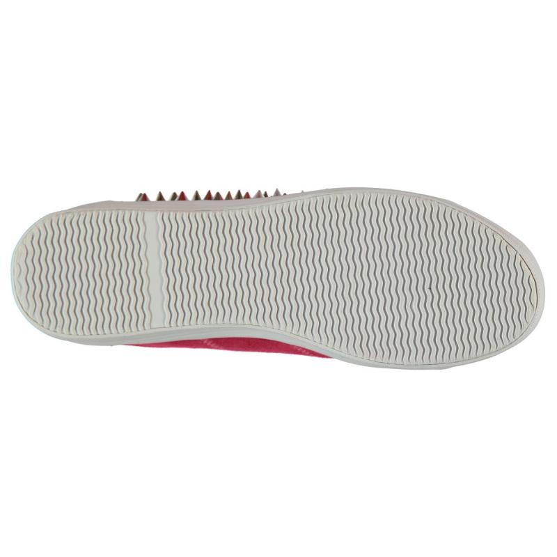 Jeffrey Campbell Play Zomg Suede Trainers Pink/Silver