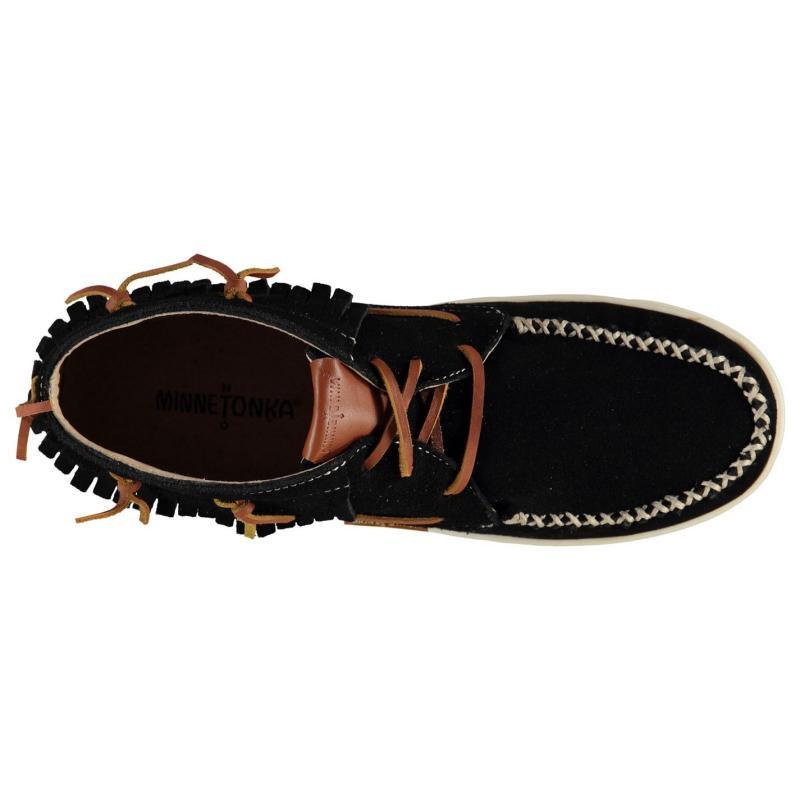Minnetonka Pisa Ankle Boot Ladies Black