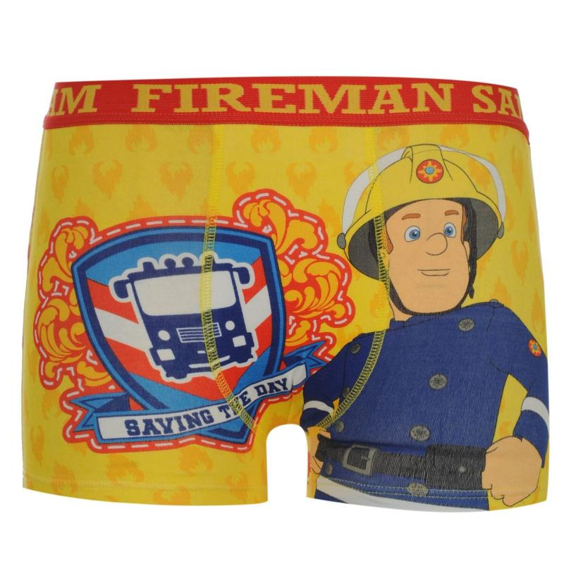 Spodní prádlo Character Fireman Sam Single Boxer Shorts Infant Yellow