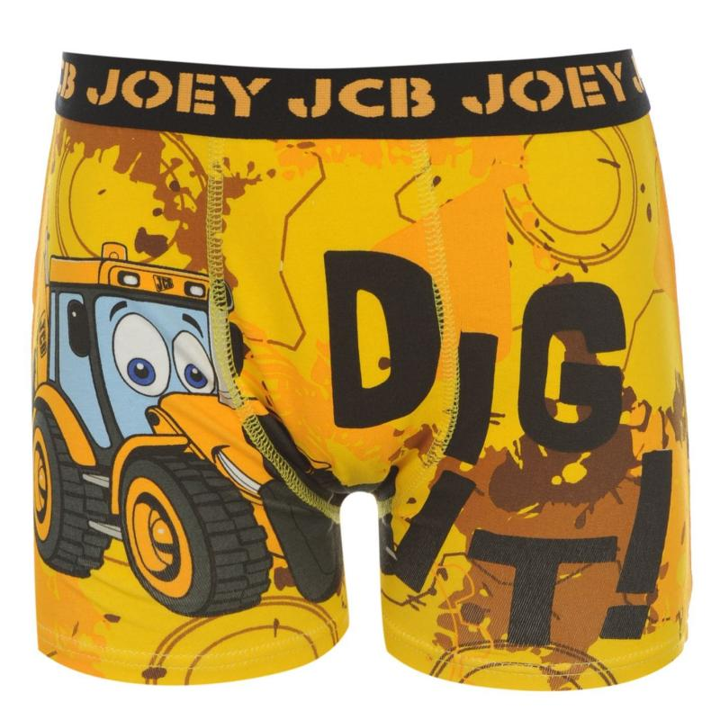 Spodní prádlo Character JCB Single Boxer Infants Yellow