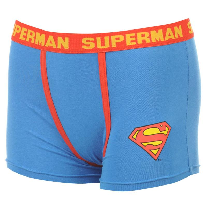 Spodní prádlo DC Comics Superman Single Boxer Short Mens Blue
