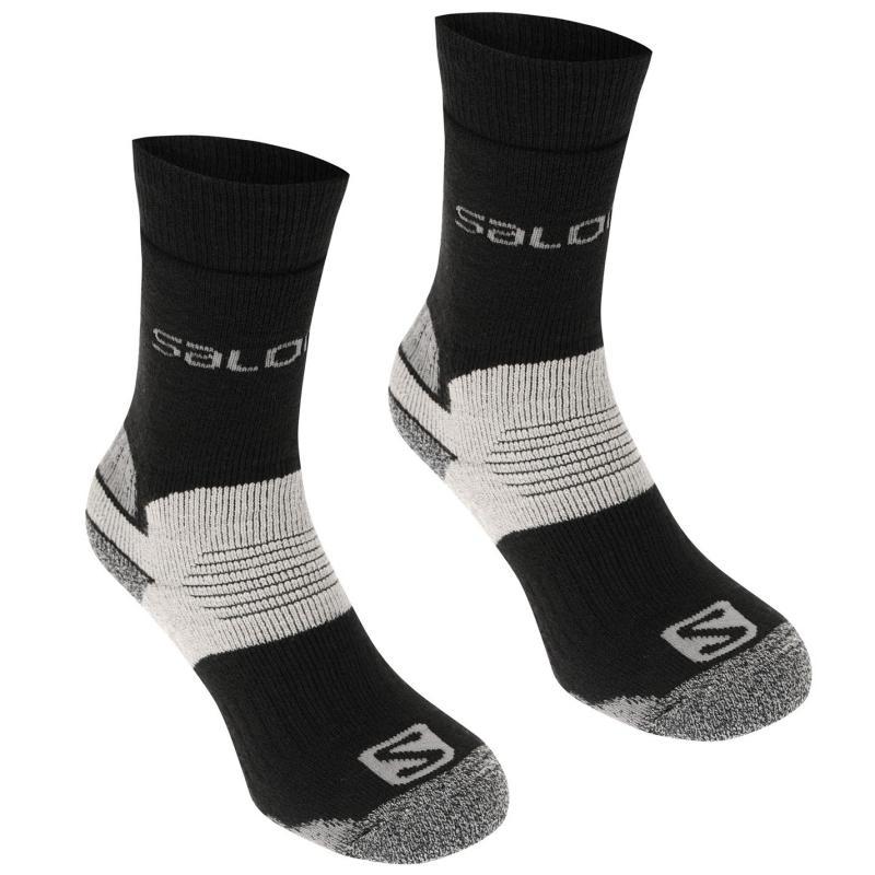 Salomon Heavyweight 2 Pack Walking Socks Mens Brown/Red