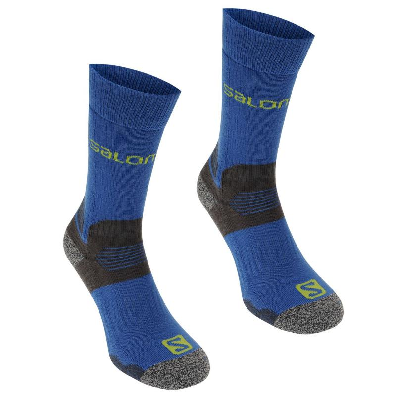 Salomon Midweight 2 Pack Mens Walking Socks Navy