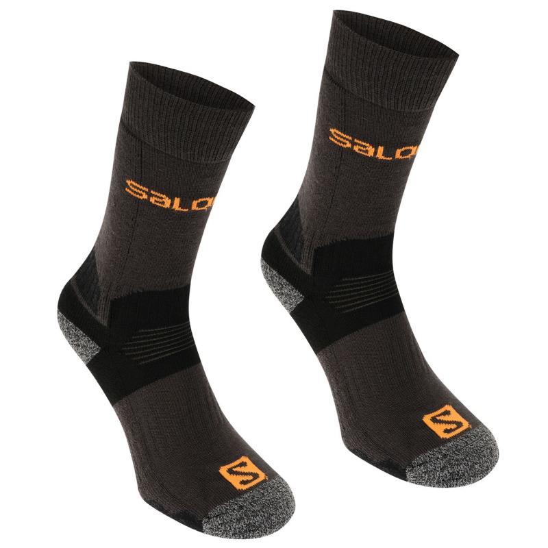 Salomon Midweight 2 Pack Mens Walking Socks Black/Red