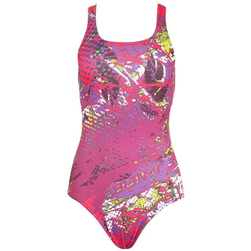 Plavky Arena Carioca One Swimsuit Ladies Plum/Multi