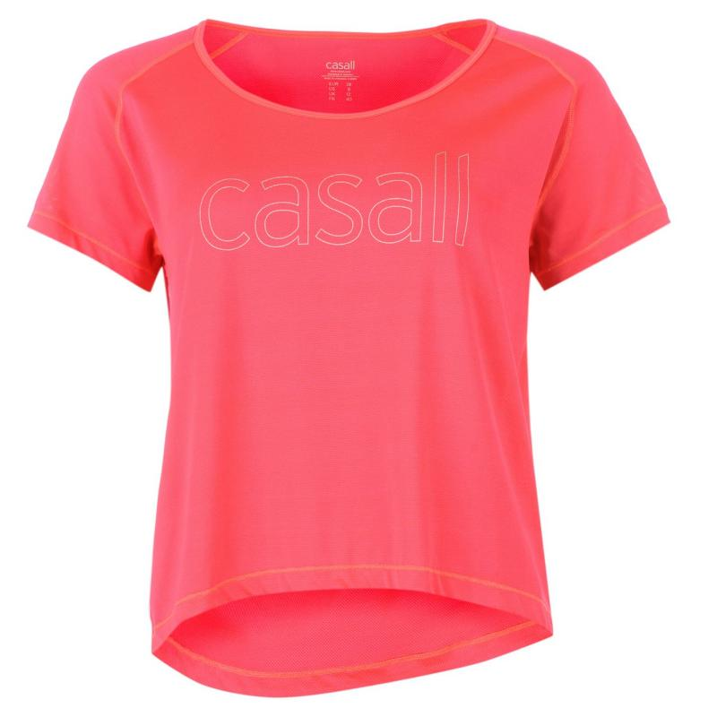 Casall Mesh Ladies T Shirt Coral