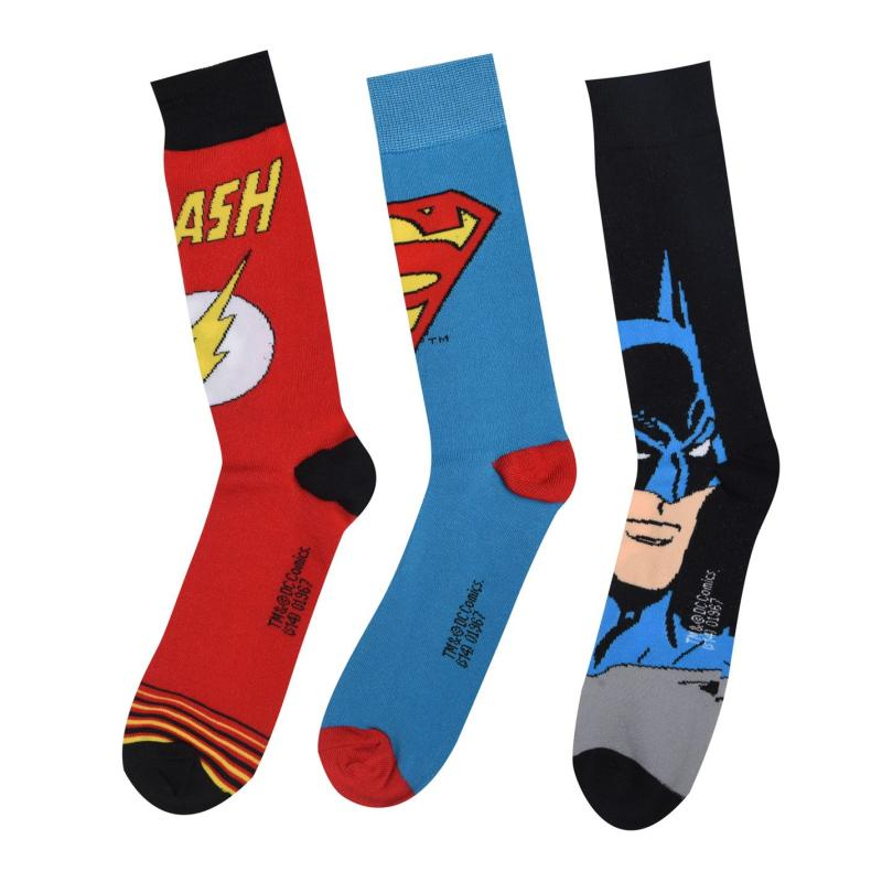 Ponožky DC Comics 3 pack Crew Sock Mens Multi