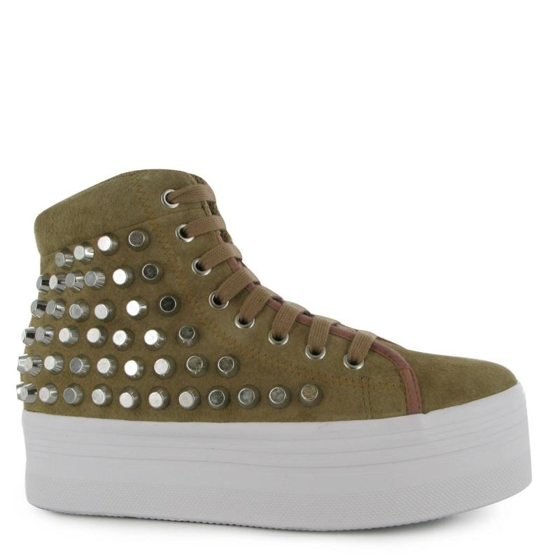 Jeffrey Campbell Play Homg Studded Shoes Nude/Silver