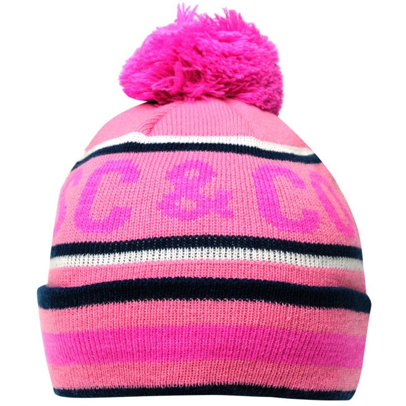SoulCal Hail Igloo Hat Junior Pink/Wht/Navy